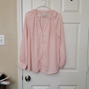 Ava & Viv Soft pink blouse.